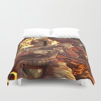 boba fett Duvet Covers featuring Boba Fett by MATT DEMINO