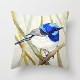 Blue Bird (Sold - original) Throw Pillow
