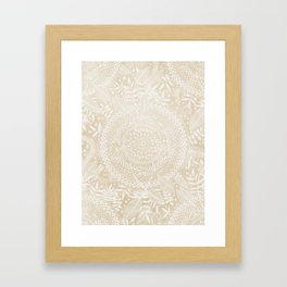 Medallion Pattern in Pale Tan Framed Art Print