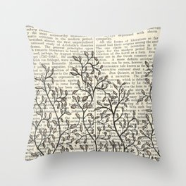 Feed Your Mind Throw Pillow
