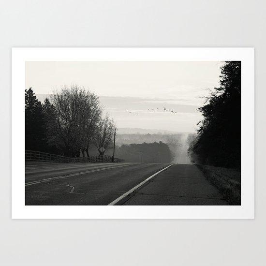 Foggy Migration Art Print