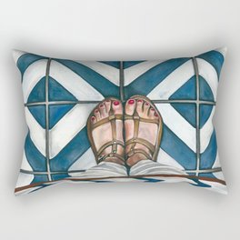 Art Beneath Our Feet - Cabarita Beach, Australia Rectangular Pillow