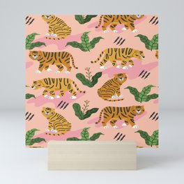 Vintage Tiger Print Mini Art Print