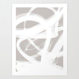 Abstract Brush Strokes 6 Art Print