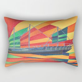 Sail Away Junk Pleasure Boat Rectangular Pillow