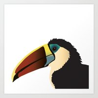 toucan Art Prints featuring Toucan by Frida Strömshed