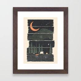 Wish I Was Camping... Framed Art Print