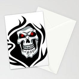 Skull tribal tattoo Stationery Cards