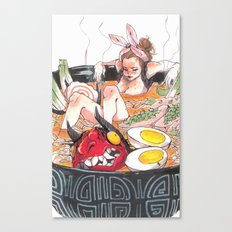 ♡ and Ramen Canvas Print