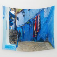 morocco Wall Tapestries featuring Morocco Traditional Alleys by ShineShop