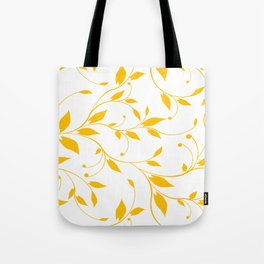 FLOWERY VINES | white yellow Tote Bag