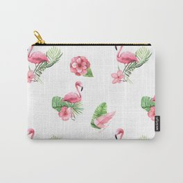 Pink Flamingo Flamingle Carry-All Pouch