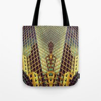 art deco Tote Bags featuring Art Deco by Sabina Miklowitz