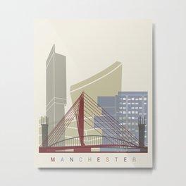 Manchester skyline poster Metal Print