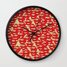 Ugandan Knuckles Pattern Wall Clock