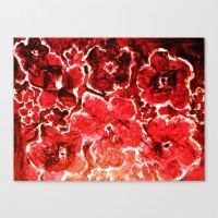 burgundy Canvas Prints featuring Burgundy Flowers by ES Creative Designs