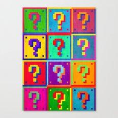 Mario Blocks Canvas Print
