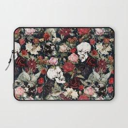 Vintage Floral With Skulls Laptop Sleeve