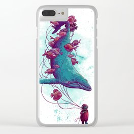 Whale Balloons Clear iPhone Case