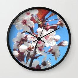 Plum Tree Wall Clock