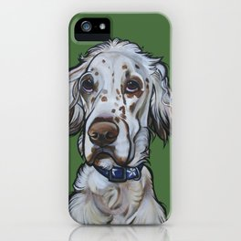 Ollie the English Setter iPhone Case