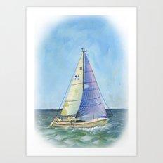 Woman Skipper Race 2015 Art Print