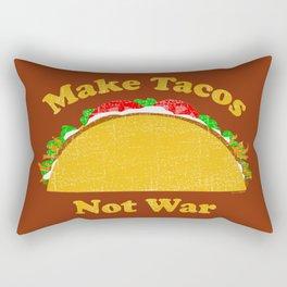 Make Tacos Not War Rectangular Pillow