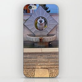 The village fountain of Kleinzell | architectural photography iPhone Skin