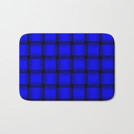 Large Blue Weave Bath Mat
