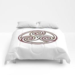 St. Patrick's Day Celtic Red Mandala #5 Comforters