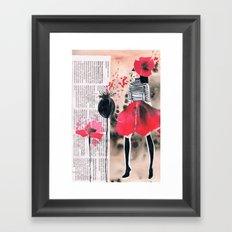 Fashion Poppies 5 Framed Art Print