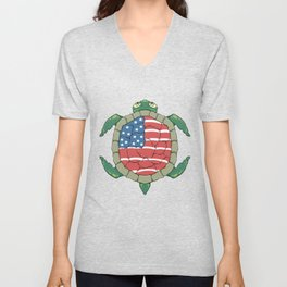 Like a turtle - Strong & Free Unisex V-Neck