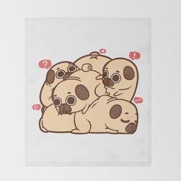 Puglie Grumblie Throw Blanket
