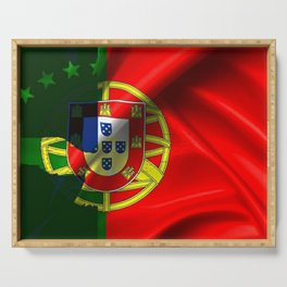 Portugal Azores flag Serving Tray