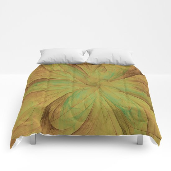 Fall Blossom Fractal Comforters