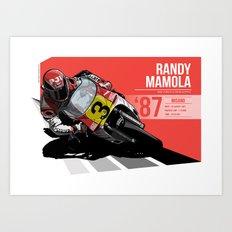 Randy Mamola - 1987 Misano Art Print