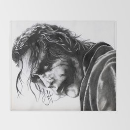 The joker - Heath Ledger Throw Blanket