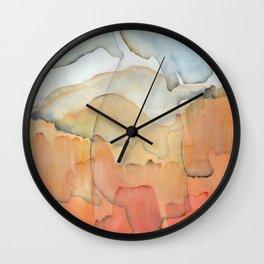 Blue and Orange Merger Wall Clock