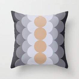 Gradual Hazelnut Throw Pillow