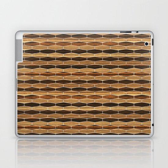 weave ebony + zebrawood Laptop & iPad Skin