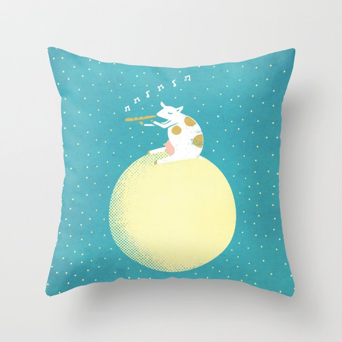 Decided to Stay Throw Pillow