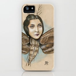 MOTH LADY iPhone Case