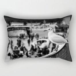 Perched seagull in Paris, France (Jardin des Tuileries) Rectangular Pillow