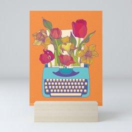 Flowering words Mini Art Print