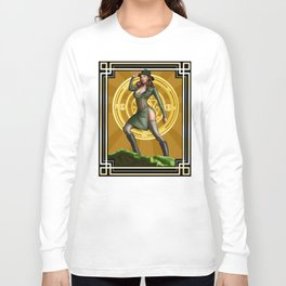 Circadian Circle 1950s World War II Woman Wizard Long Sleeve T-shirt