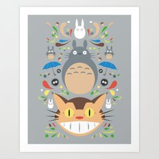 Neighborhood Friends Art Print