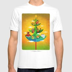 A Very Filipino Christmas White Mens Fitted Tee MEDIUM