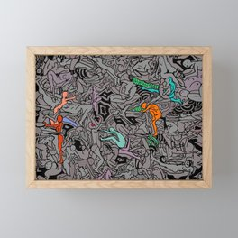 Kamasutra LOVE Doodle - Retro Colors 1 Framed Mini Art Print