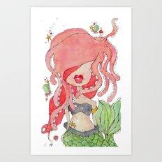 suki -- part of the merm story. Art Print