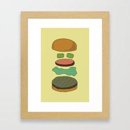 Burger Assembly Framed Art Print